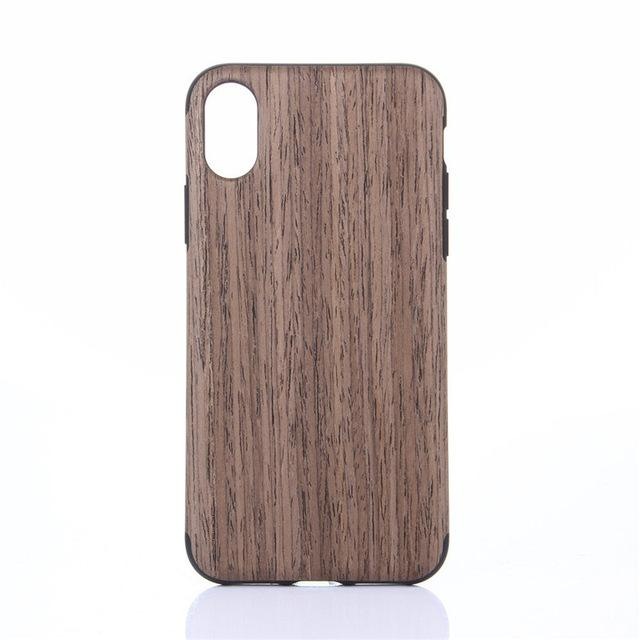 buy popular 43897 afe89 Drop Shipping Wood Print Protective TPU Phone Case For iphone 9 for iphone  XR 6.1 inch 80918