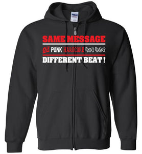 ZipSame Message Zip Up Hoodie