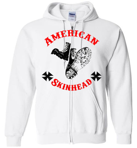 American Skinhead Classic Boots Zip Up Hoodie