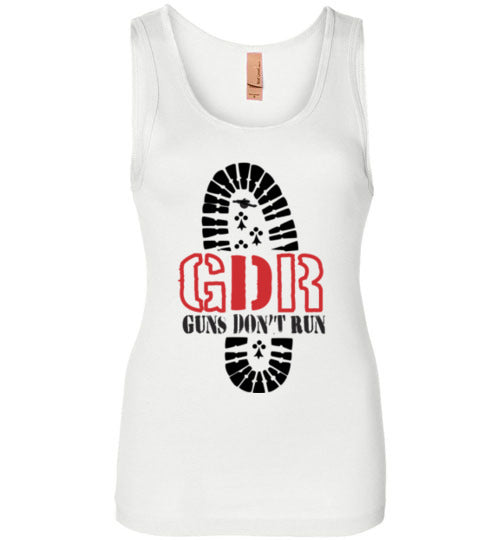 Guns Don't Run  Boots Tank Top Ladies' T-Shirt