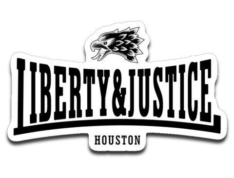 Liberty & Justice 4 x 3 Decal