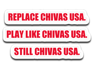 STILL CHIVAS USA 4 X 3 Decal