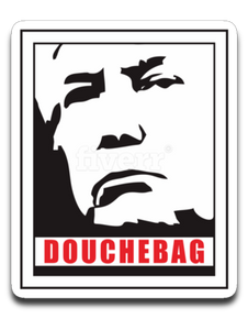Douchebag 4 x 3 Decal