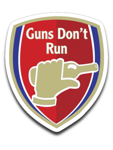 Guns Don't Run Arsnel 4 x 3 Decal