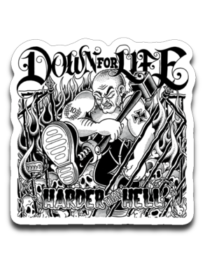 Down For Life 4 x 3 Decal