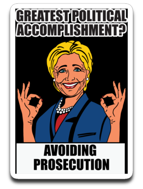 Crooked Hilary 4 X 3 Decal