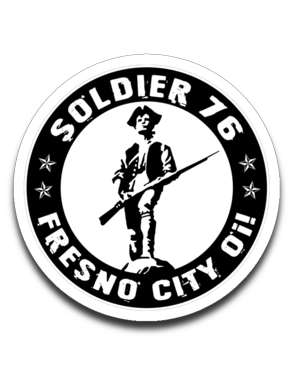 Soldier 76 Fresno City Oi! 4 x 3 Decal