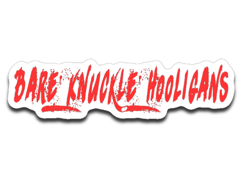 Bare Knuckle Hooligans 4 x 3 Decal
