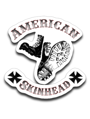 American Skinhead Classic Boots 4 x 3 Decal
