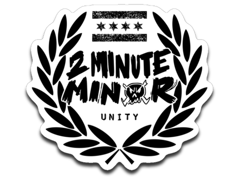 2 Minute Minor 4 x 3 Decal