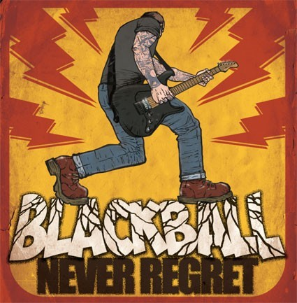 Black Ball - Never Regret  (LP or DIGIPAK) DISTRO LP