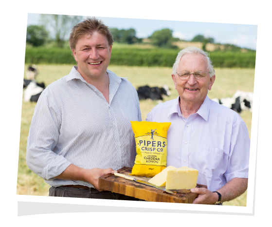 Delicious Cheddar and Onion flavour crisps made with traditional West Country Cheddar.