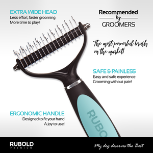 RUBOLD Fur Perfection Dematting Tool for Dogs - dog grooming tools and dog care products