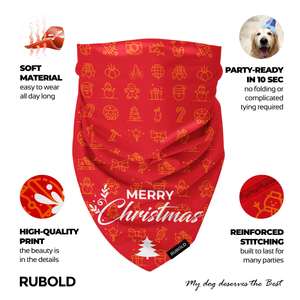 RUBOLD Trend Setter Christmas and New Year's Eve Bandana - dog grooming tools and dog care products
