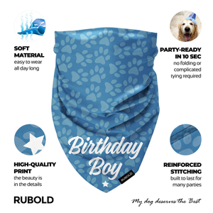 Trend Setter Birthday Boy Bandana - dog grooming tools and dog care products