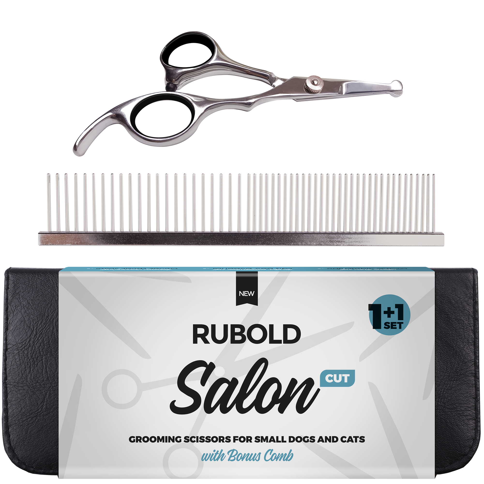 RUBOLD Salon Cut 1+1 Grooming Scissors Set - dog grooming tools and dog care products