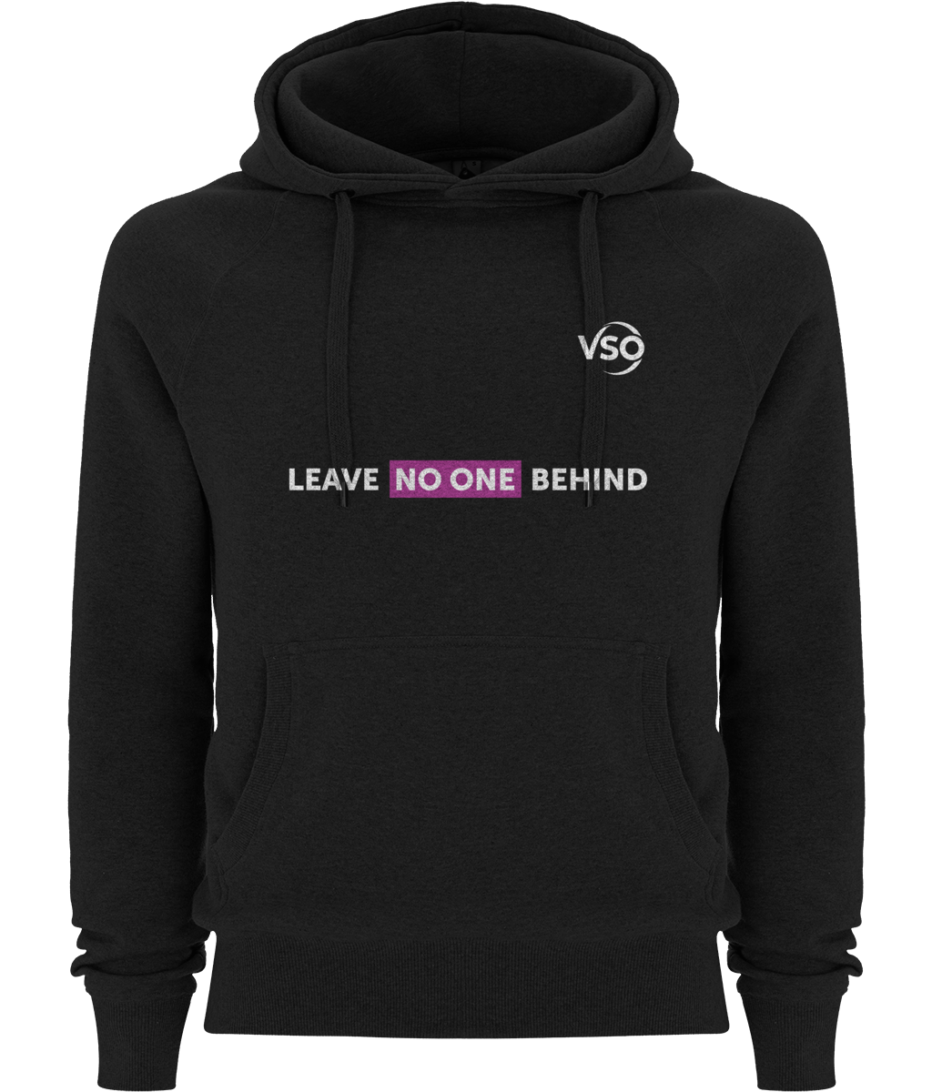 Leave No One Behind Unisex Pullover Hoodie (white logo)
