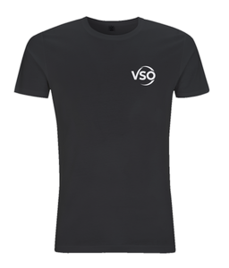 VSO Slim Fit Jersey Men's T-shirt (white logo)