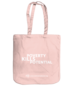 Poverty Kills Potential EarthAware Organic Spring Tote