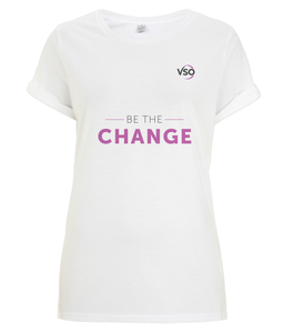 Be The Change Women's Rolled Sleeve T-Shirt