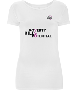 Poverty Kills Potential Classic Stretch Women's T-Shirt