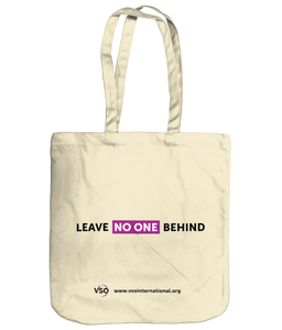 Leave No One Behind EarthAware Organic Spring Tote