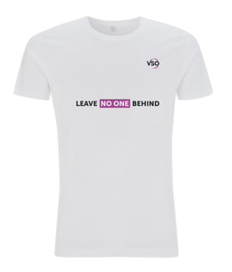 Leave No One Behind Slim Fit Jersey Men's T-shirt