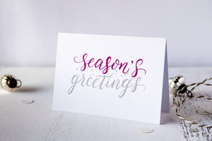 Season's Greetings Christmas Cards