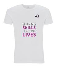 Sharing Skills Changing Lives Slim Fit Jersey Men's T-shirt