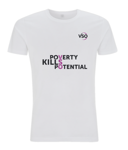 Poverty Kills Potential Slim Fit Jersey Men's T-shirt