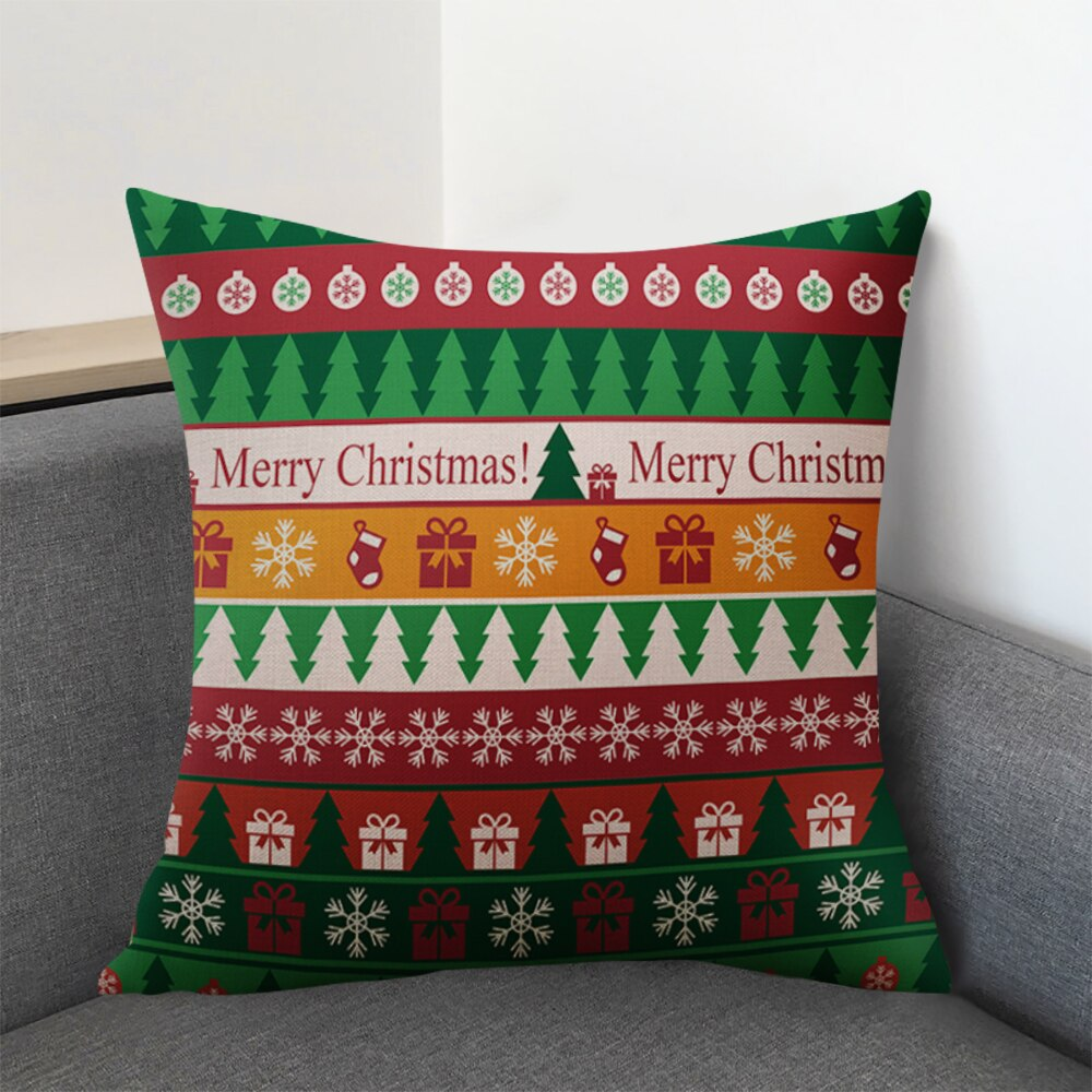 DIDIHOU 45*45cm Christmas Car Christmas Cushion