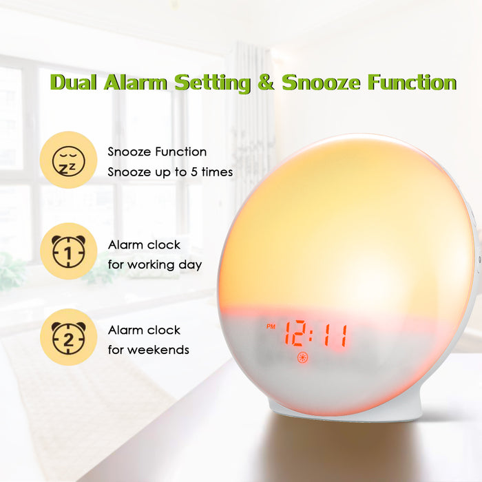 Wake-up Light Alarm Clock - Daylight Simulator