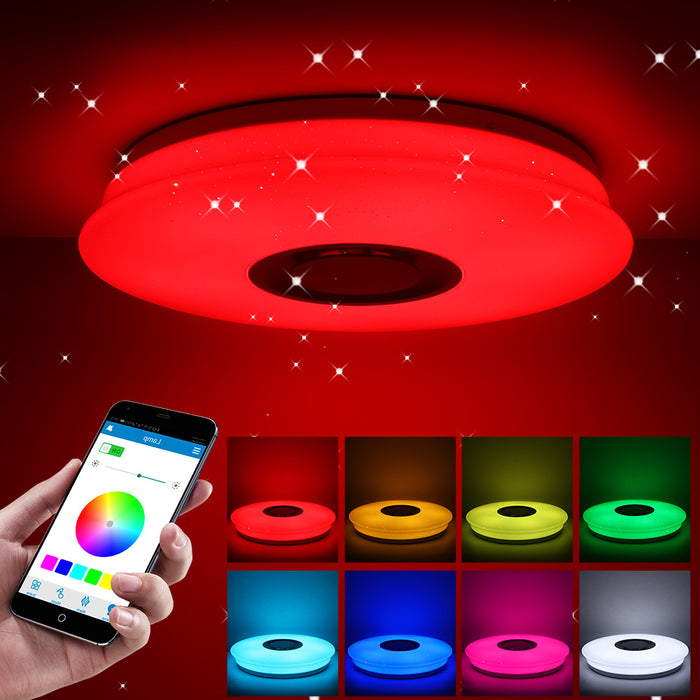 Smart Music LED ceiling Lights RGB Dimmable