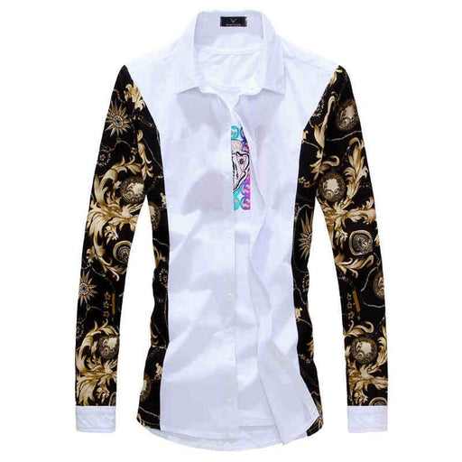 New Men's Long Sleeve Casual Shirt Fashion Rose Flower 3D Printed Floral Shirt Turn-down Collar Slim Fit Shirt For Mens Clothing