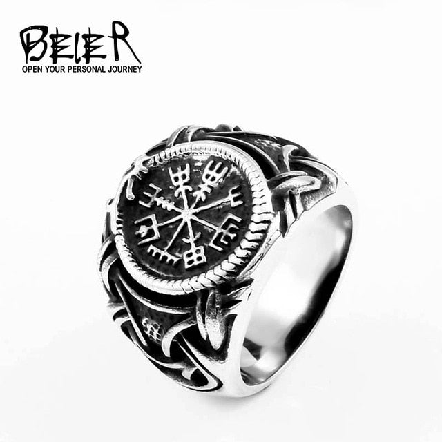 Beier 316L Stainless steel nose viking men ring Dragon Animal Pagan Odin Amulet Vegvisir scandinavian fashion jewelry BR8-622
