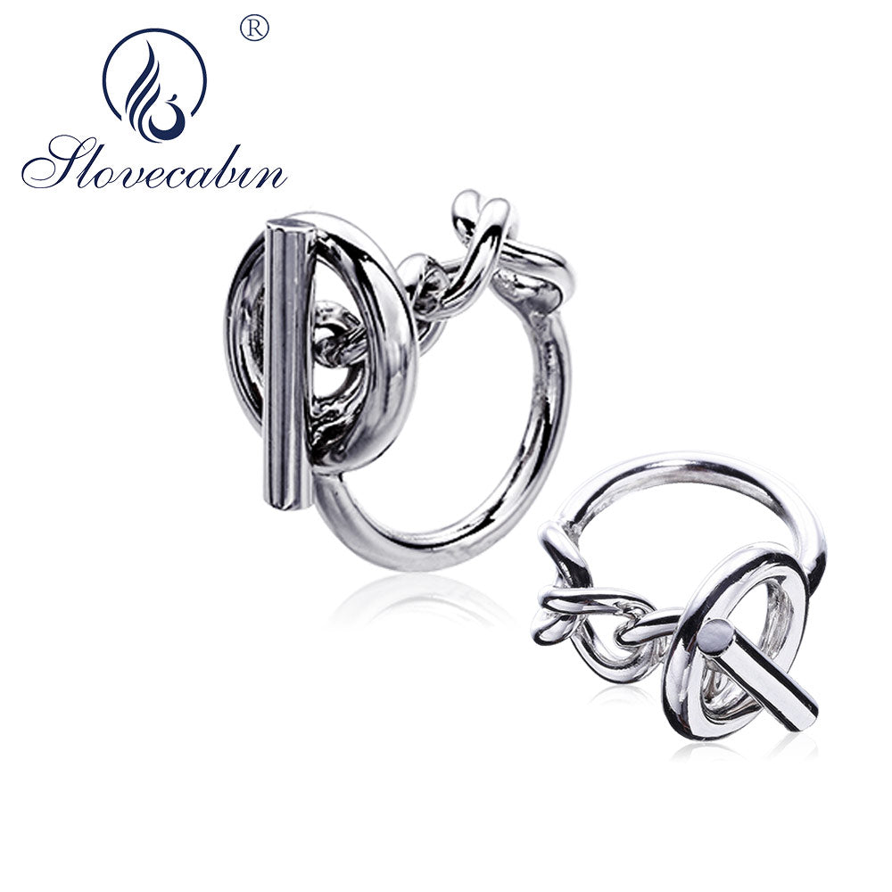 Slovecabin 925 Sterling Silver European Vintage Bijoux Femme Hip Hop Men Wedding Rings Engagement Jewelry Big Rings for Women