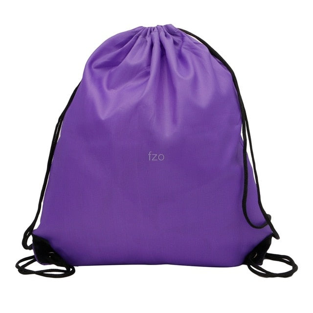 New1Pc Hiking Backpacks Kids' Clothes Shoes Backpack Swimwear Bag P.E School Drawstring Book Sport Gym yhq