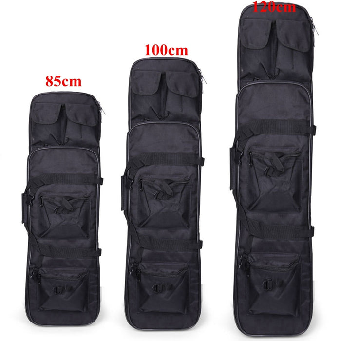 Tactical Hunting Rifle Case 85cm 100cm 120cm Military Outdoor Nylon Bag Double Carbine Gun Case Backpack Shooting Air Rifle Bags
