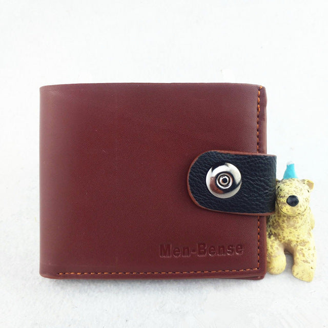 Men Wallets Fashion Mens Wallet with Coin Bag Zipper Small Money Purses Dollar Slim Purse Money Clip Wallet Buckle wholesale 278