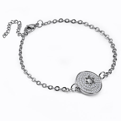 Pentagram Round Bracelet Adjustable Everyone Can Wear Stainless Steel Never Fade Golden Bracelets for Women Girl Gifts