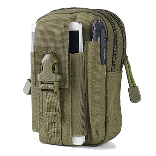 Tactical Molle Phone Pouch Belt Waist Pack Bag Military Waist Fanny Pack Utility EDC Gear Bag Gadget Divider Organizer Storager