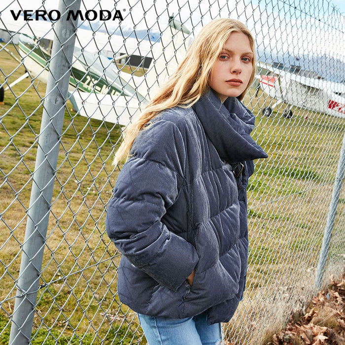 Vero Moda new snap button high collar thick down jacket women | 318423505
