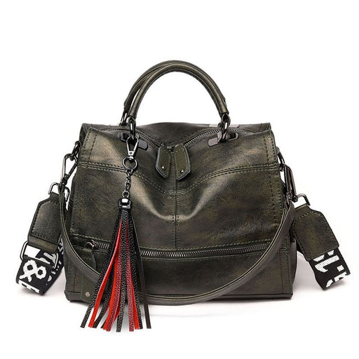 Vintage Tassel soft leather luxury handbags women bags Designer ladies Casual tote bag shoulder crossbody bags for women Sac