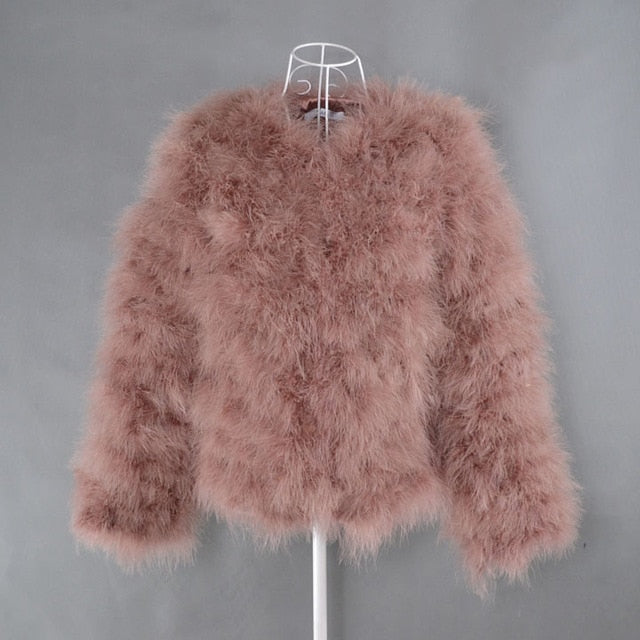 TOPFUR 2019 Black Real Fur Coat Women Fur Jacket Natural Fur Coats Women Leather Jacket With Fur Wine Red Coat Short Plus Size