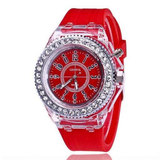 LED Flash Luminous Watch Personality trends students lovers jellies men's watches light Wrist Watches reloj mujer часы женские