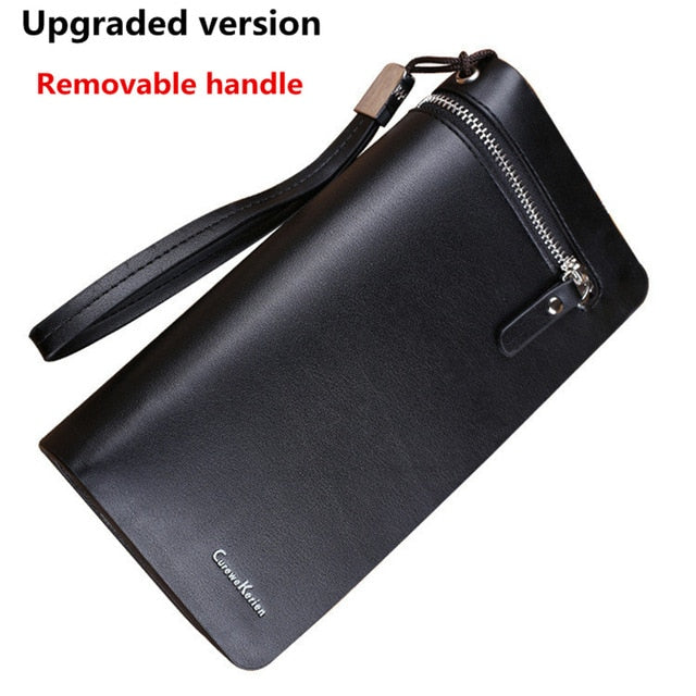 NEW Bifold Men Wallet Brand Famous Mens Leather Long Wallet Clutch Male Money Purse ID Card Holder Carteira Masculina
