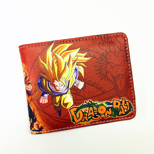 FVIP  The Classic Anime Dragon Ball Z Wallet Young Men and Women Students Short Wallets Japanese Cartoon Comics Purse Dollar
