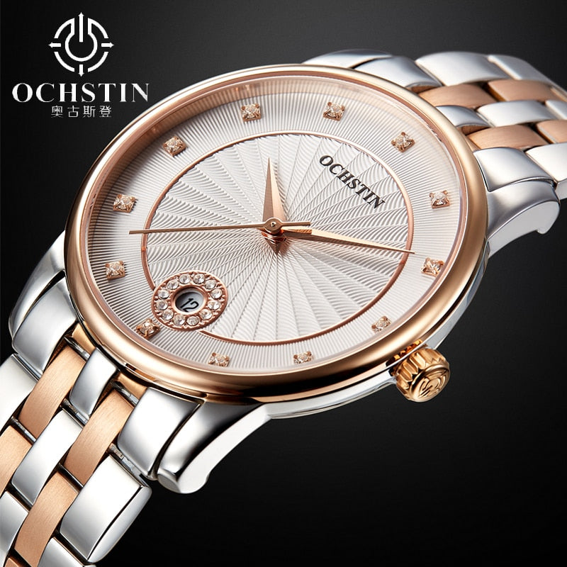 2017 Watches Women Ladies Luxury Ochstin Auto Date Quartz Watch Bracelet Wrist For Woman Waterproof Stainless Relogio Feminino
