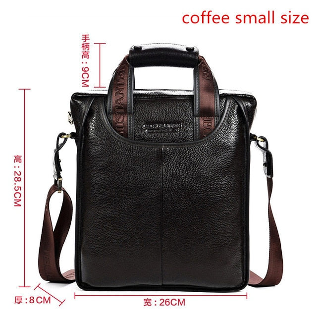 Bostanten 2017 Hot Sale Genuine Leather Business Briefcase Portable Laptop Handbag Casual Purse Sacoche Homme Marque Crossbody