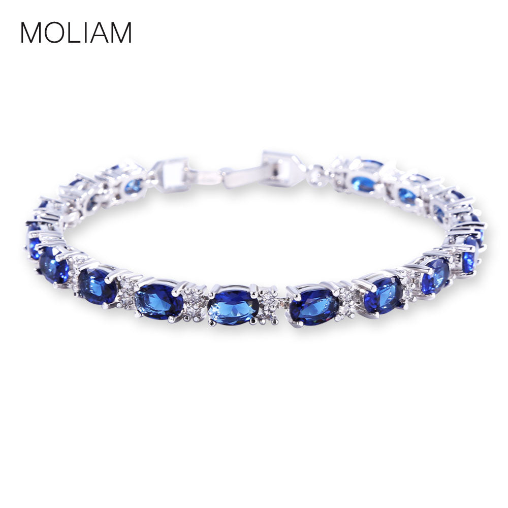 MOLIAM Bracelets & Bangles 2016 New Designer Bracelet Fashion AAA Cubic Zircon Bangles Jewelry for Women MLL120
